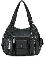 Scarleton Double Zipper Washed Shoulder Bag H1336