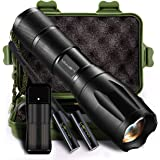 Larnn Led Tactical Flashlight, Super Bright Handheld Flashlights for Camping Hiking Hunting