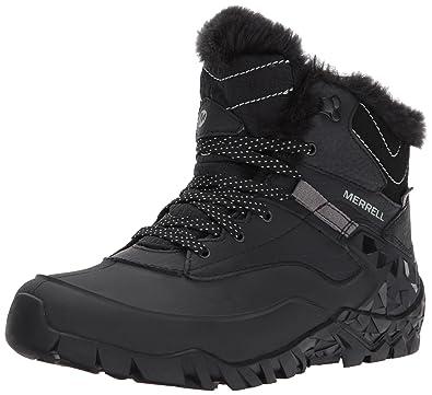 Merrell Women's Aurora 6 Ice + Waterproof Winter Boot, Black, ...