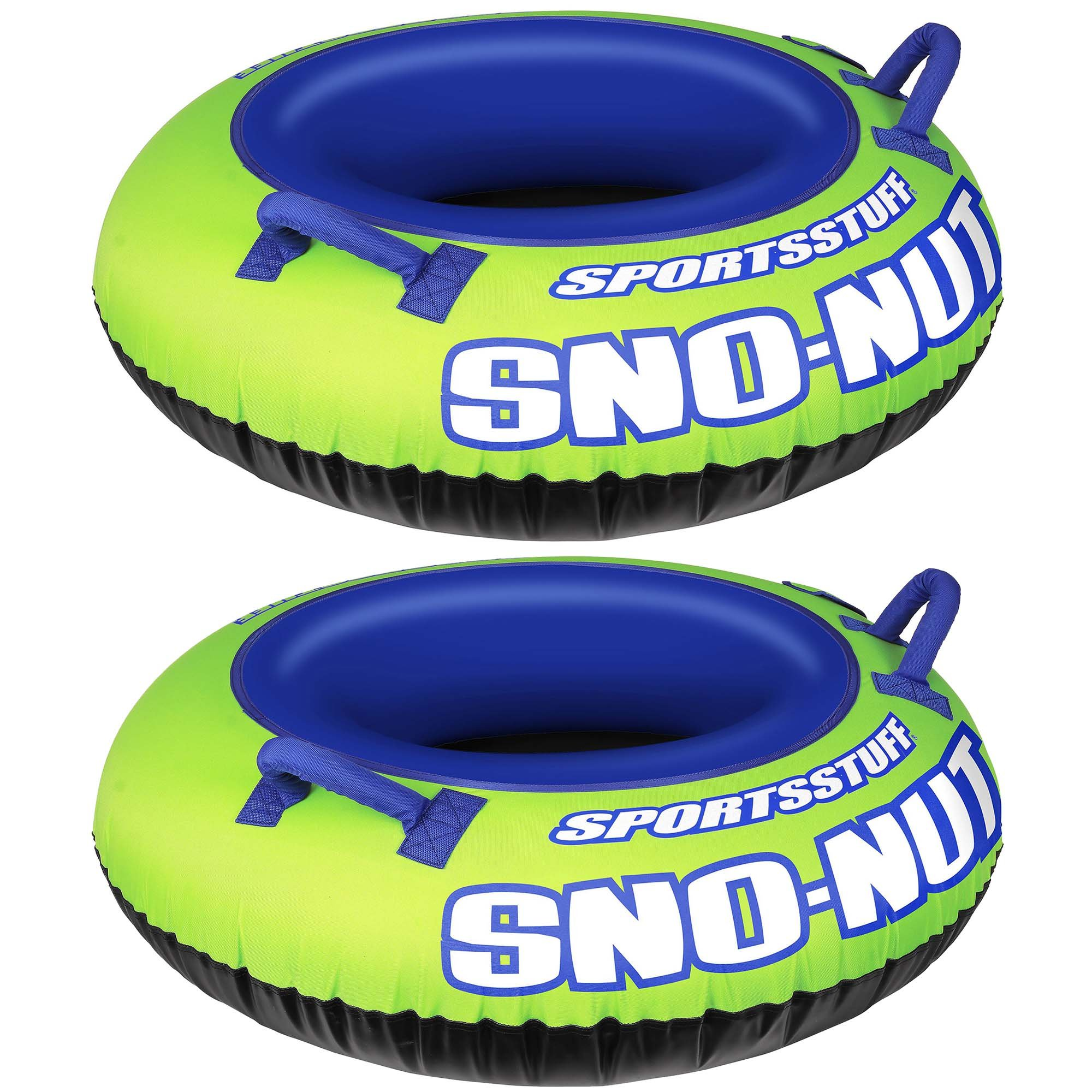 Sportsstuff Inflatable 48-Inch Sno-Nut Snow Tube with Foam Handles (2 Pack) by Kwik Tek