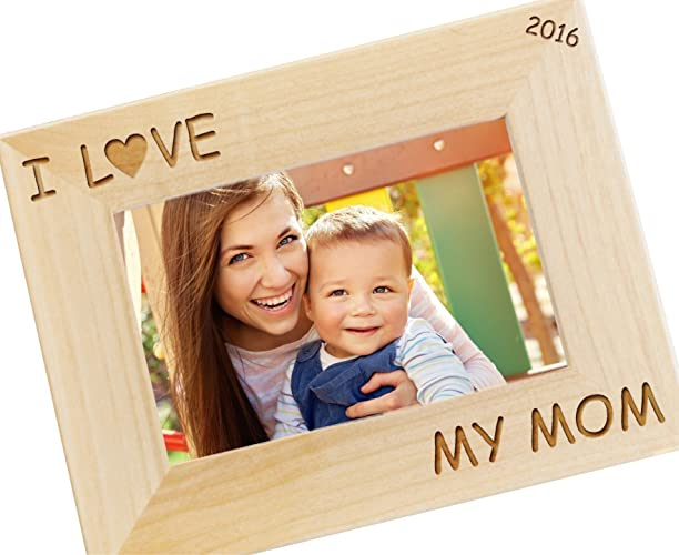 Amazon.com: I Love My Mom Personalized Picture Frame - Custom ...