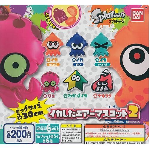 BANDAI Splatoon squid kawaii All 6set Gashapon mascot toys Complete set