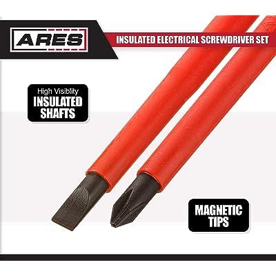 Convenient Storage Pouch Included ARES 70600 S2 Steel Screwdriver Shafts 7-Piece Precision Screwdriver Set