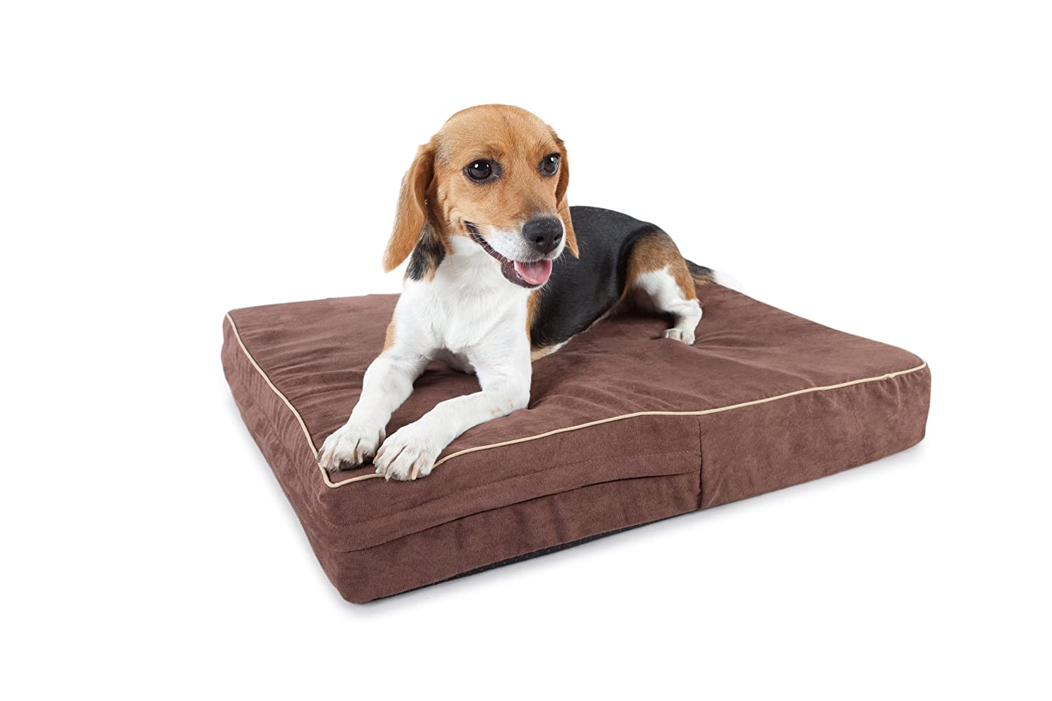 Extra large orthopedic dog beds best price - Amazon Com Orthopedic 4 Pound Memory Foam Dog Beds Washable Suede 30 Day Money Back Guarantee 1 Best Rated Pet Beds Brown 40 X35 X4 L Pet Bed
