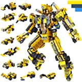 LUKAT Robot STEM Building Toys for 6 Year Old Boys, 573 pcs Construction Toy Engineering Building Bricks Construction Vehicle