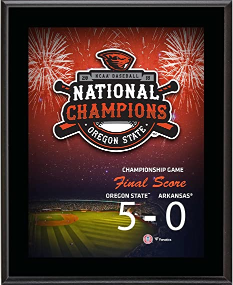 """ada35bde Image Unavailable. Image not available for. Color: Oregon State Beavers  10.5"""" x 13"""" 2018 NCAA Baseball College World Series National  Champions"""