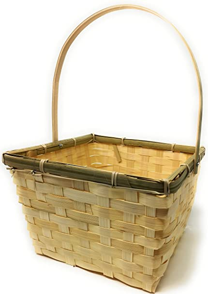 Ylab Panier De Noel En Bambou Ecologique Fait Main 21 X 21 X 14 Cm Amazon Fr Cuisine Maison
