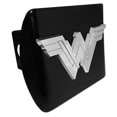 Elektroplate Wonder Woman Black All Metal Hitch Cover: Automotive