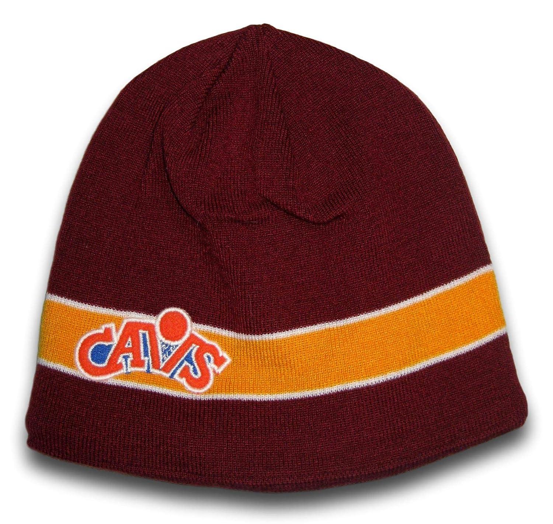 Amazon.com   Fan Apparel Cleveland Yellow Stripe Fleece Lined Beanie Hat  Lid Cap Toque   Sports   Outdoors f3338f98c82
