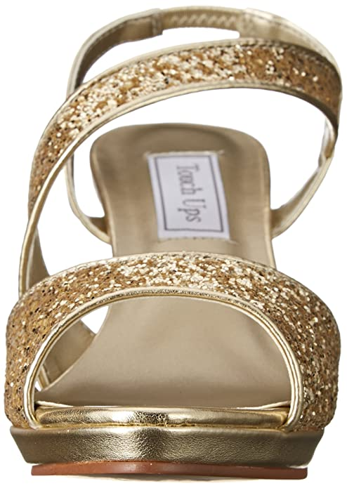 Royal Navy Blue Glitter Touch Ups Reagan Kitten Heel Formal Bridal Sandal Shoe