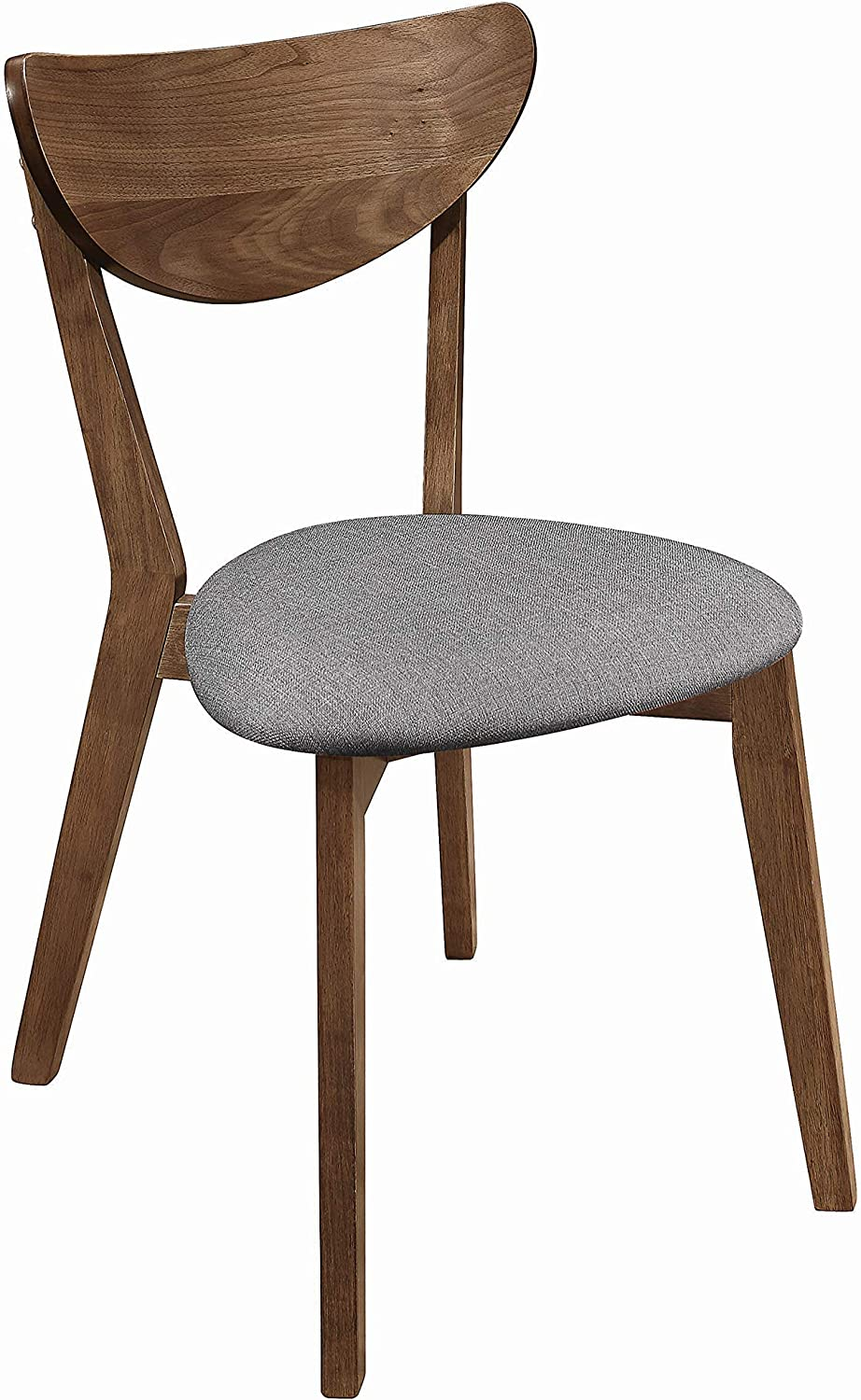 Coaster Home Furnishings Alfredo Upholstered Grey and Natural Walnut (Set of 2) Dining Chair