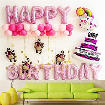 NOMSOCR 1st Birthday Boy Girl Decorations Kit Great for Party Supplies Includes Pink \u0026 Amazon.com: