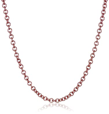 Amazoncom 14k Rose Gold Italian Rolo 2mm Chain Necklace 16 Jewelry
