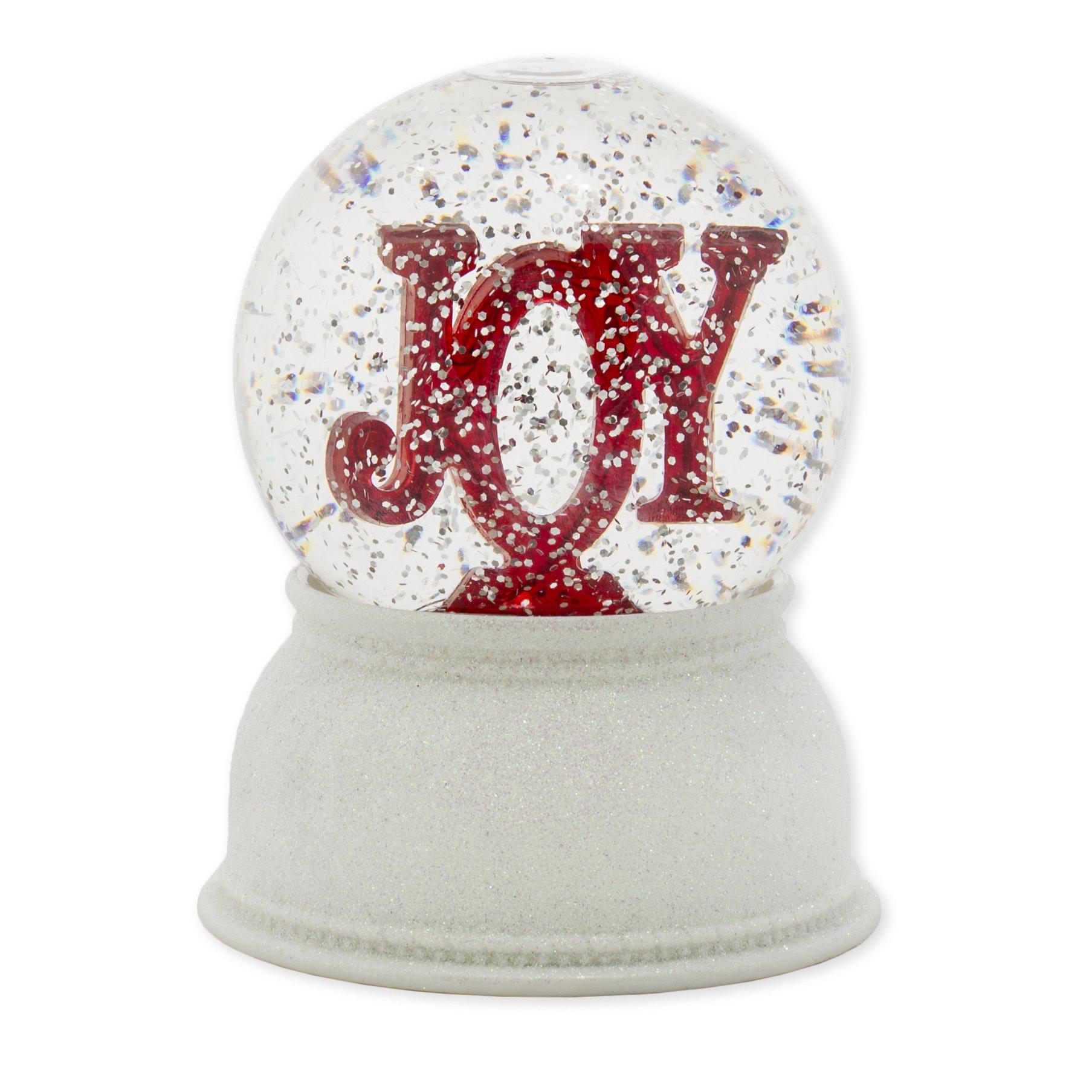 Roman Christmas Joy Marquee Swirldome Glitterdome Snowglobe
