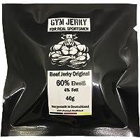 Neue Rezeptur Gym Jerky Beef Original 1kg | 25x40g | High Protein >60% | Low Fat <4% & Low Carb | Hergestellt in Deutschland