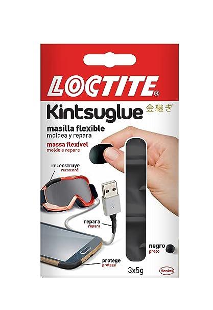Loctite Kintsuglue, masilla flexible, repara, protege, mejora, negro, 3 x