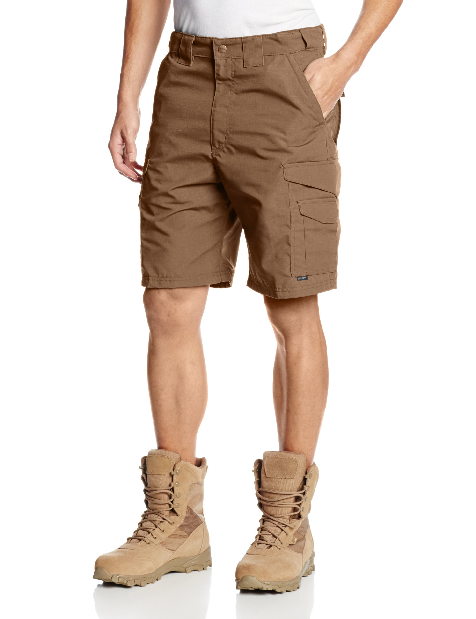 TRU-SPEC Men's 24-7 Polyester Cotton Rip Stop 9-Inch Shorts, Coyote, 36-Inch