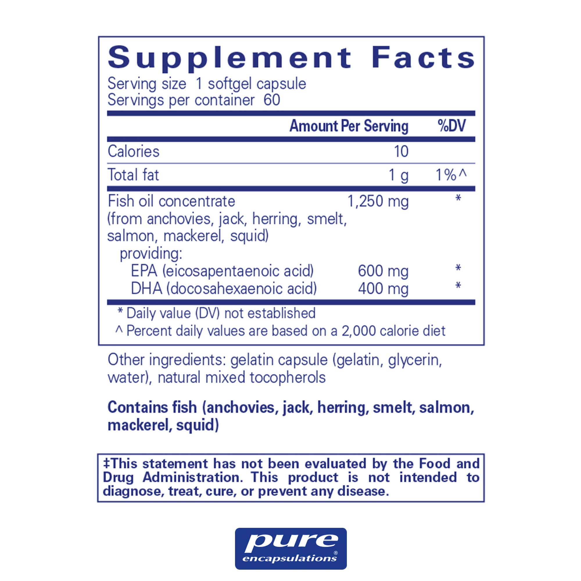 Pure Encapsulations - O.N.E. Omega - Fish Oil Capsules to Support Cardiovascular, Joint, Cognitive, and Skin Health* - 60 Softgel Capsules by Pure Encapsulations (Image #2)