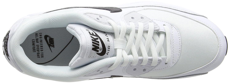 Nike Air Max Basse 90, Scarpe da Ginnastica Basse Max Donna Bianco (White/Black 001) cdce59