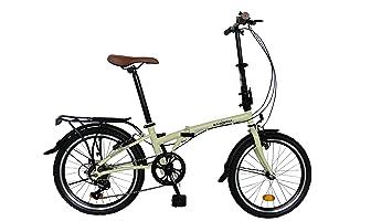 Bicicleta de ciudad pleglable ECOSMO 6SP - 20F01BL con rueda de 20
