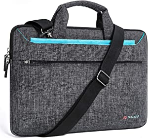 "DOMISO 14 inch Laptop Sleeve Shoulder Bag Water-Resistant Protective Messenger Bag Business Briefcase Handbag for 14"" Notebook/Lenovo ThinkPad E480 Yoga 920/13.5"" Microsoft Surface Book, Blue"