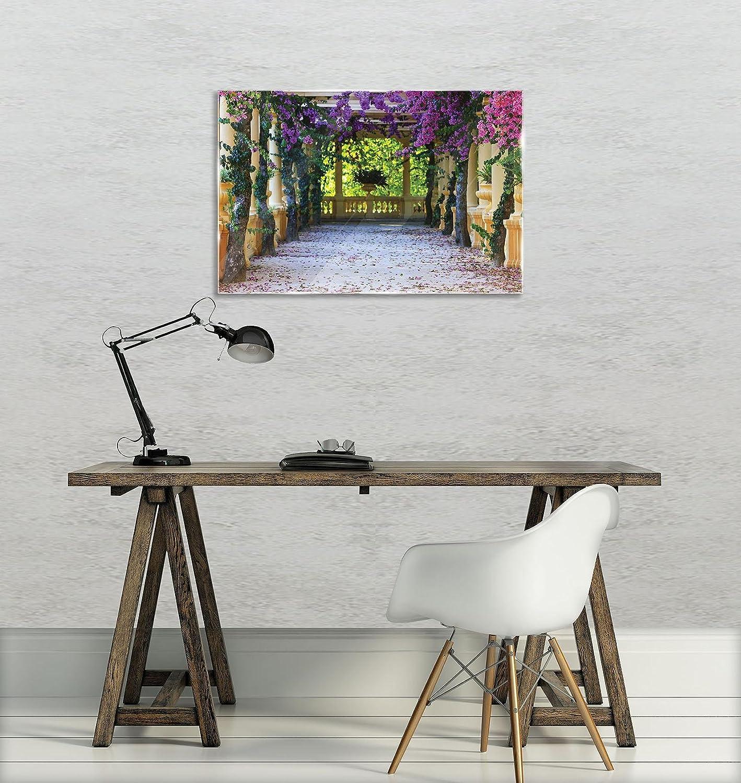 Glasbild Consalnet ForWall AMF10877_GT - Cuadro de Cristal para Pared, diseño de terraza con Flores, Vidrio, carbón, G3 (60cm. x 40cm.): Amazon.es: Juguetes y juegos
