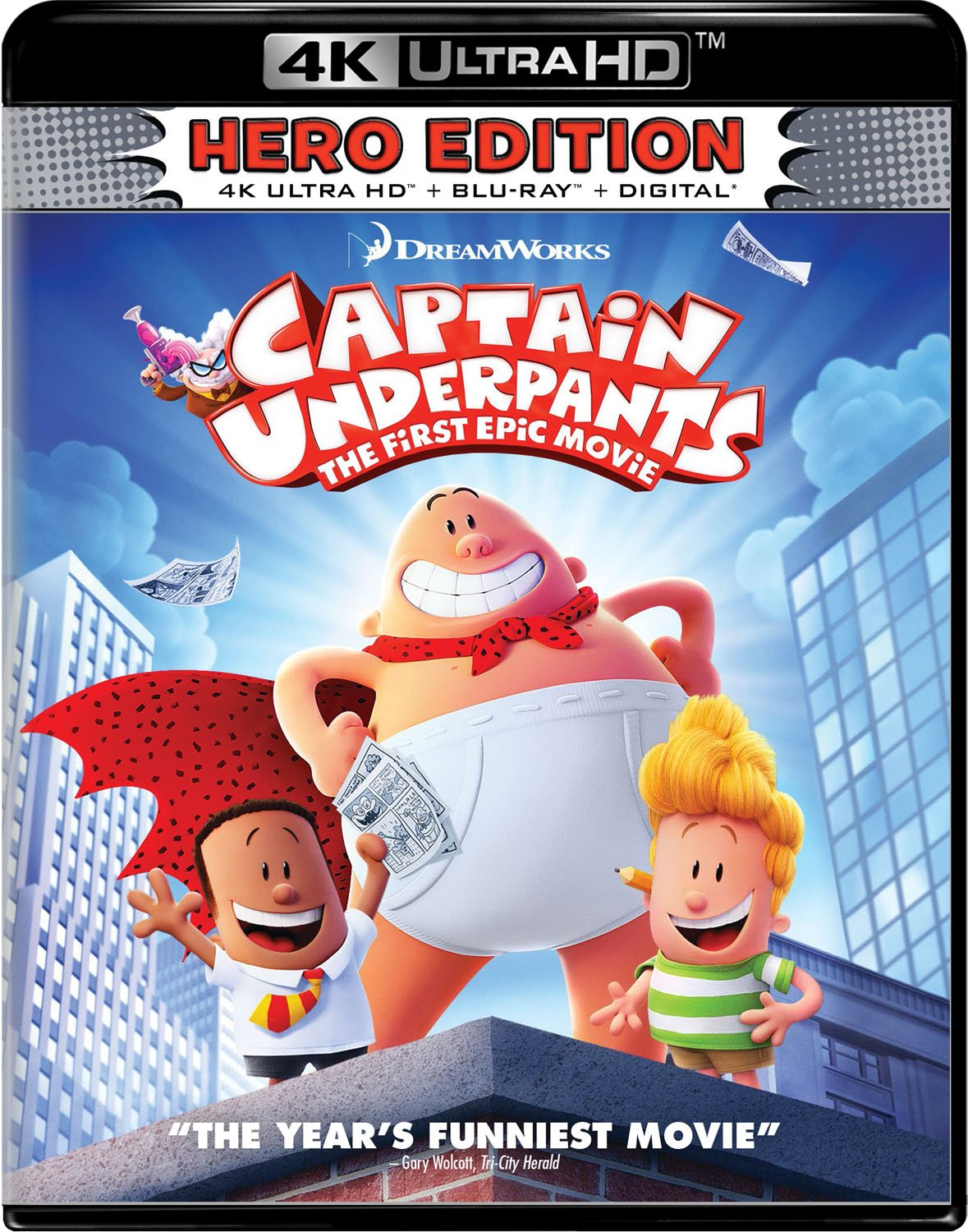 4K Blu-ray : Captain Underpants: The First Epic Movie (With DVD, Digitally Mastered in HD, 2 Pack, Widescreen, Dolby)