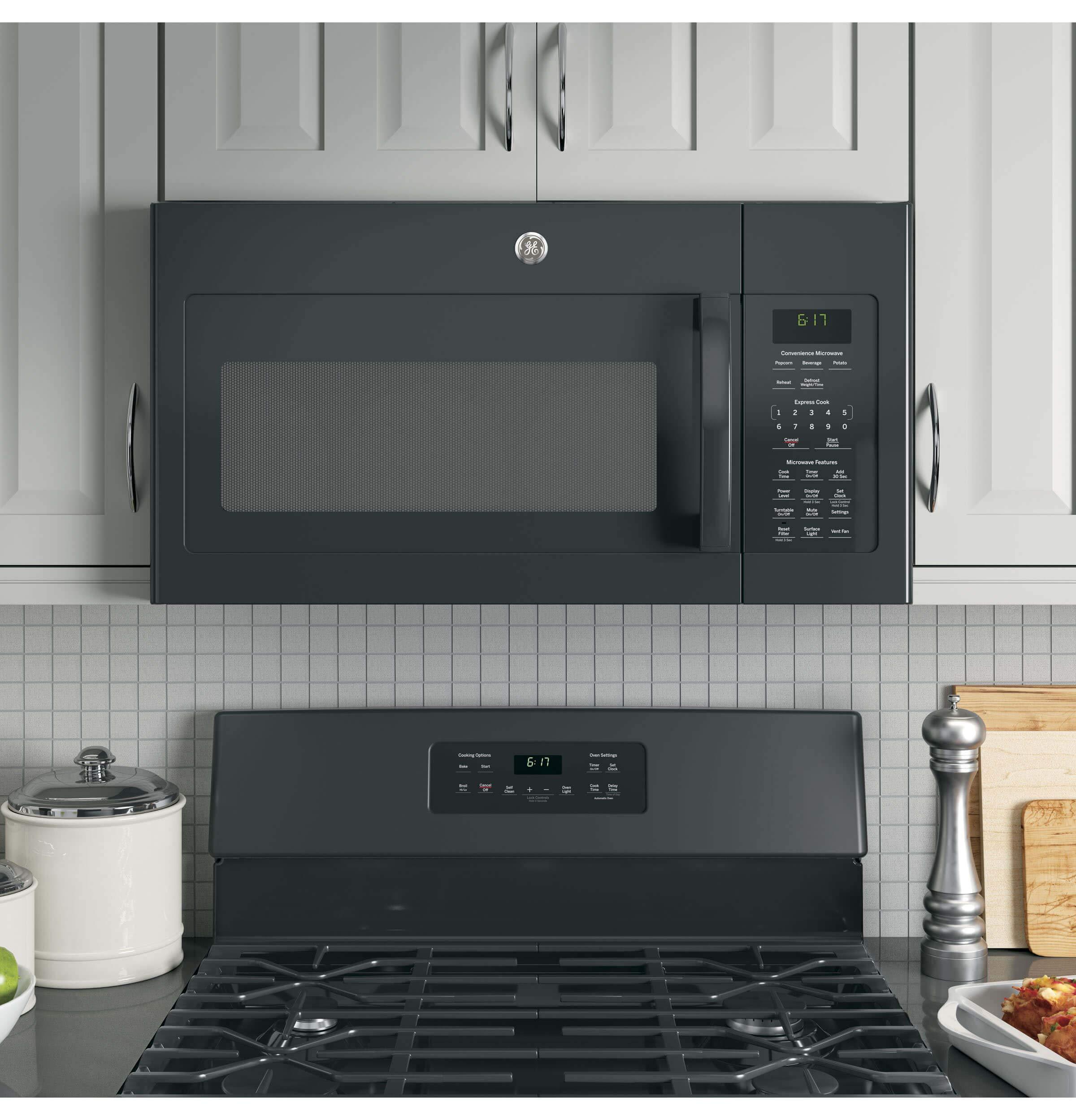 GE JVM6172DKBB Over-the- Over-the-Range Microwave, 1.7, Black by GE (Image #7)