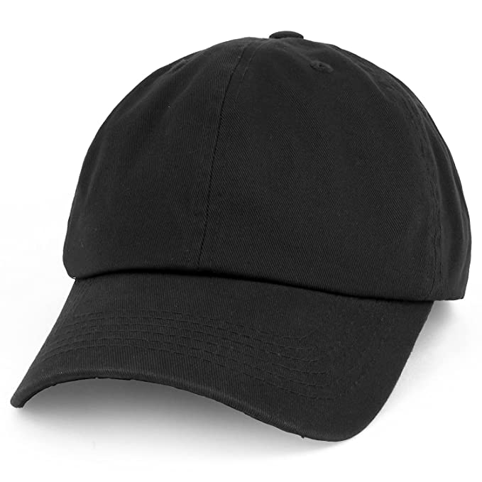Trendy Apparel Shop Oversize XXL Plain Unstructured Soft Crown Cotton Dad  Hat - Black fd6a1bd17