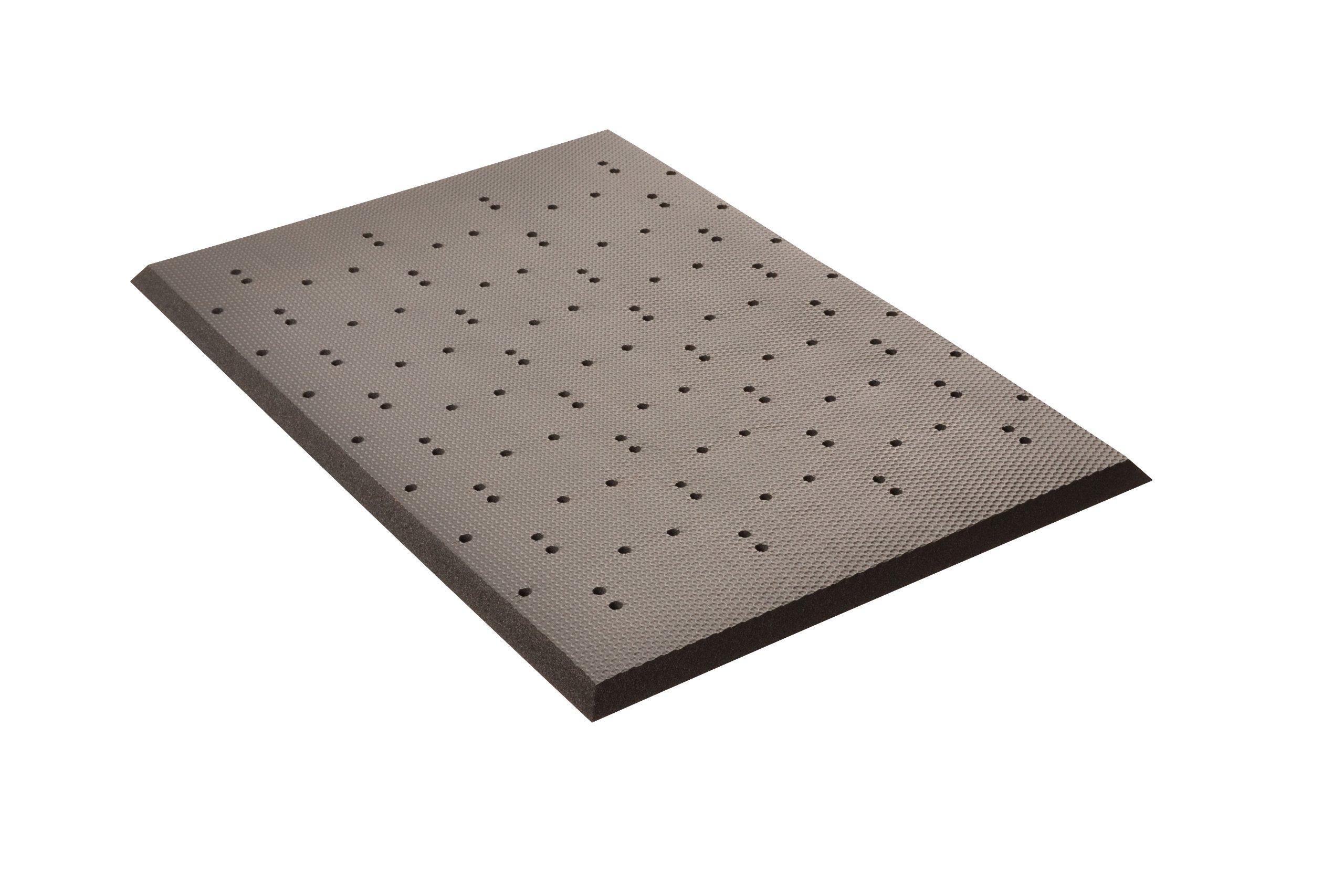 NoTrax 441S0035BL Superfoam Plus Perforated Floor Mat, 3' x 5', Black