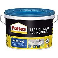 Pattex Universeel tapijt en PVC-lijm, sterke lijm voor pvc-vloeren & tapijten, tapijtlijm geschikt voor vloerverwarming…