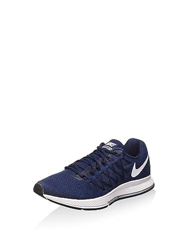 ec3c4df431e3 Nike Air Zoom Pegasus 32, Chaussures de Running Homme, Blanc-Bleu Marine  Minuit