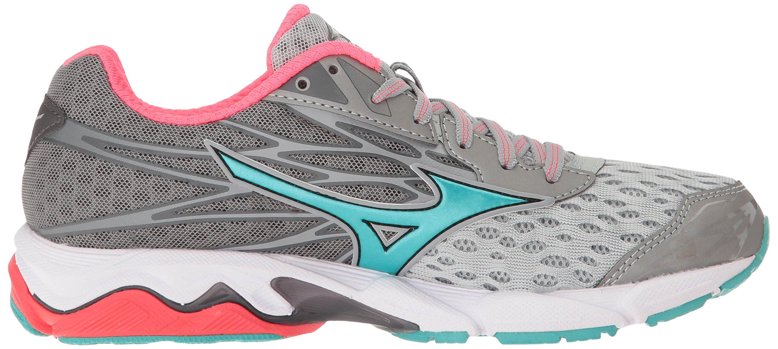 Mizuno Women's Wave Catalyst 2 Running Shoe, Grey/Mint, 9 B US by Mizuno (Image #7)
