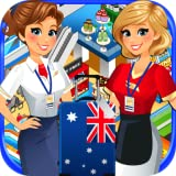 Airport Cash Register Mini Mall & Supermarket Simulator - Kids Fun Cashier Games FREE