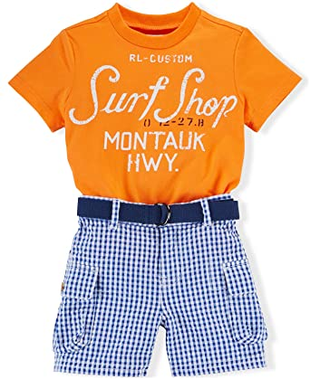 682409a3c40c Amazon.com  Ralph Lauren Polo Baby Boys  3-Piece Surf Shop Tee