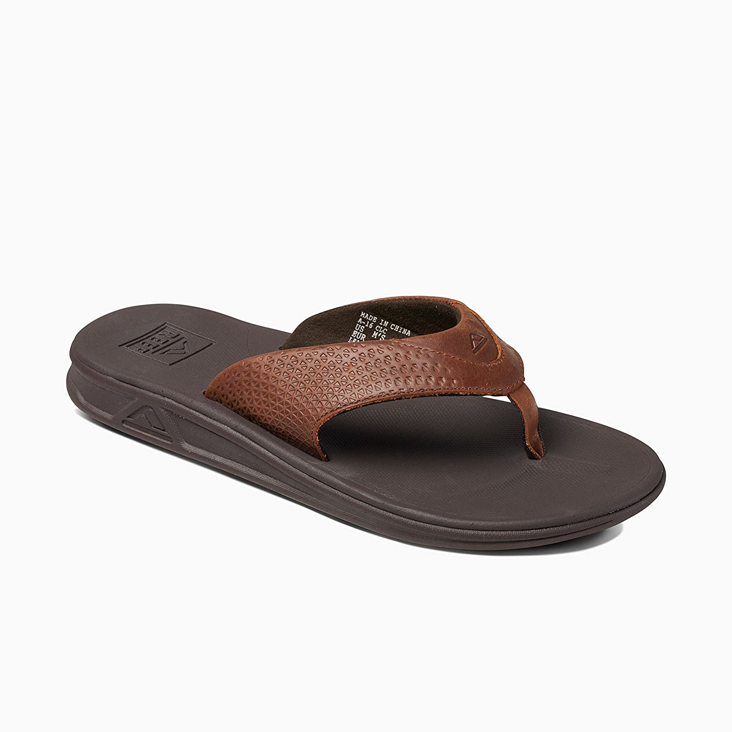Reef Mens Sandals Rover Le Premium Real Leather Flip Flops For Men With Soft Cushion Footbed Waterproof