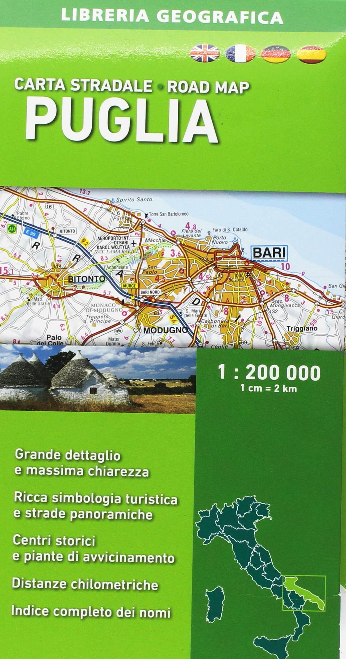 Cartina Autostradale Della Puglia.Amazon It Carta Stradale Della Puglia 1 200 000 Libri