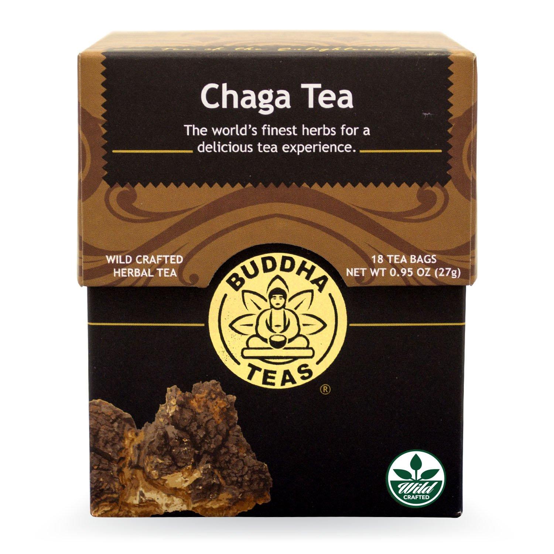 Buddha Teas Chaga Tea, 18 Count (Pack of 6)