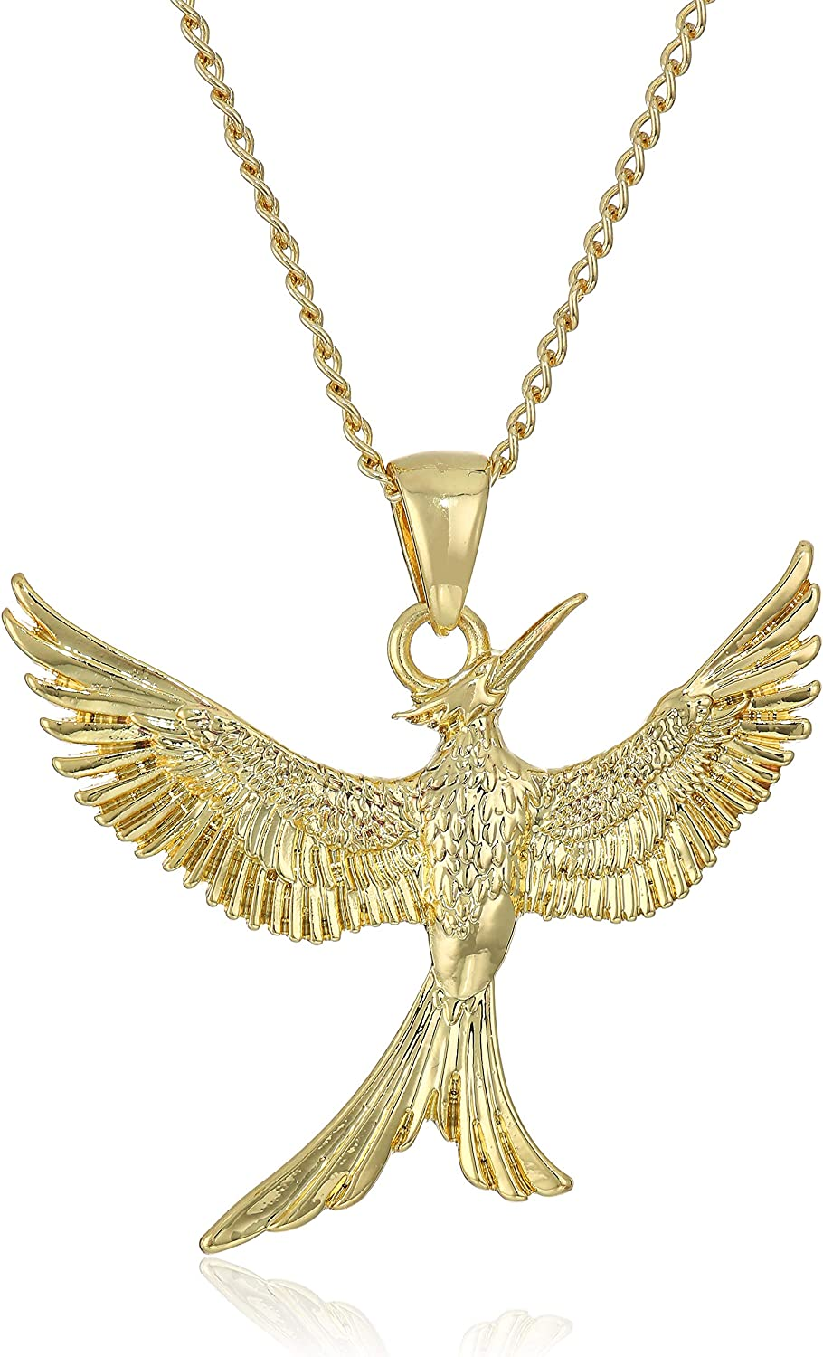 Bioworld Hunger Games Mockingjay 14K Gold Plated Boxed Necklace