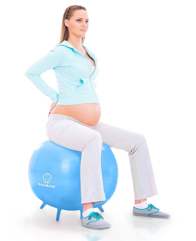 Amazon.com: Bebé Bump nacimiento Balón w Base Piernas – Yoga ...