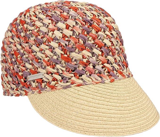 Seeberger Gorra de Mujer Multicolour Crochet Visera para el Sol ...