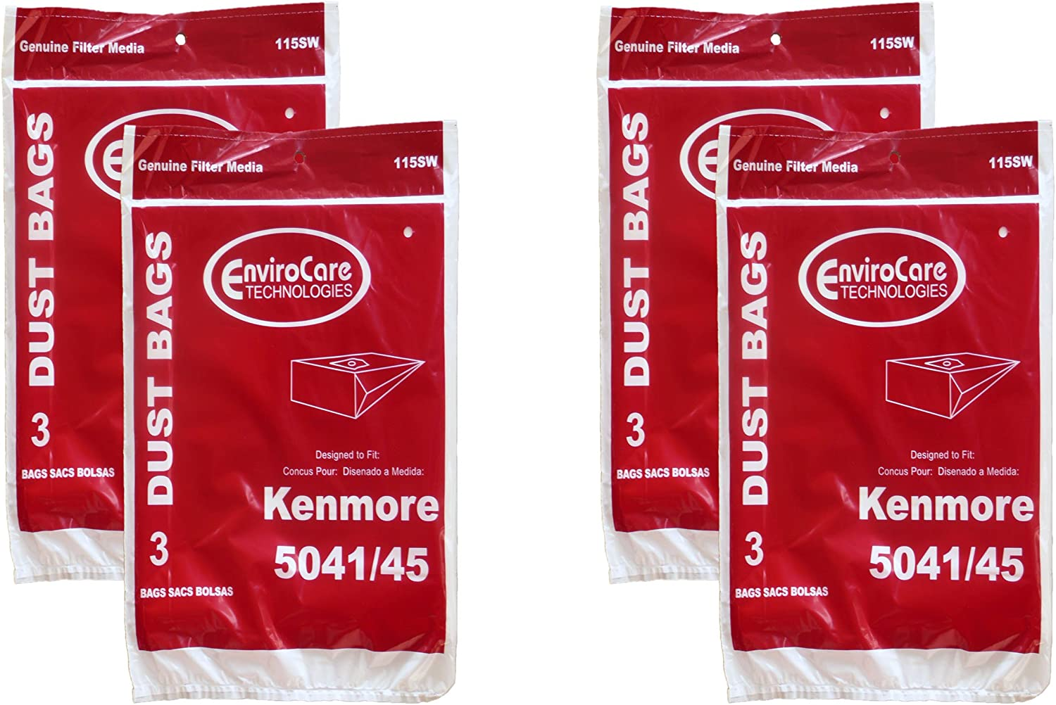 12 Kenmore #20-5045 Type H Canister Vacuum Cleaner Bag Model 203040 24025 23040 20035, 20350, 20395, 24031, 24200, 24203, 21040, 24205, 24300, 25170, 25250, 25300, 25320, 26350, 26355, 27320, 28320, 28350, 29035, 29200, #02050001000, #609218