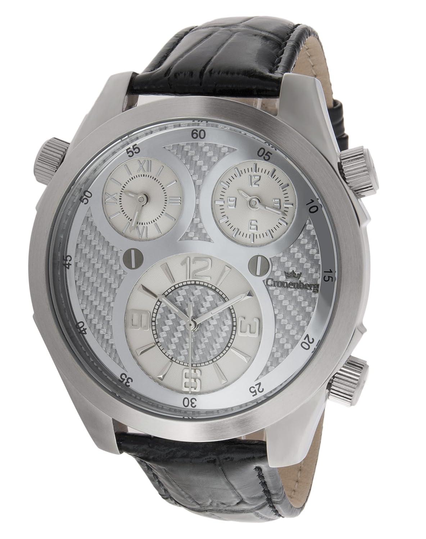 Cronenberg Herren-Armbanduhr Analog Quarz Leder Schwarz - 12072W1-CB