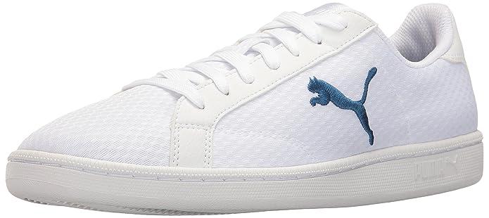 Zapatillas Smash Knit Fashion para hombre, True Blue / Puma White, 4.5 M US