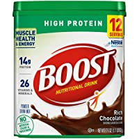BOOST High Protein Powder Drink Mix, Chocolate Sensation, 17.7 Ounce Canister (Pack of 4)