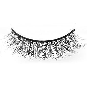 c5fa1f52ce4 Amazon.com : Arimika Handmade Lightweight Natural Short Mink False Eyelashes  For Makeup 2 Pairs Pack D18 : Beauty