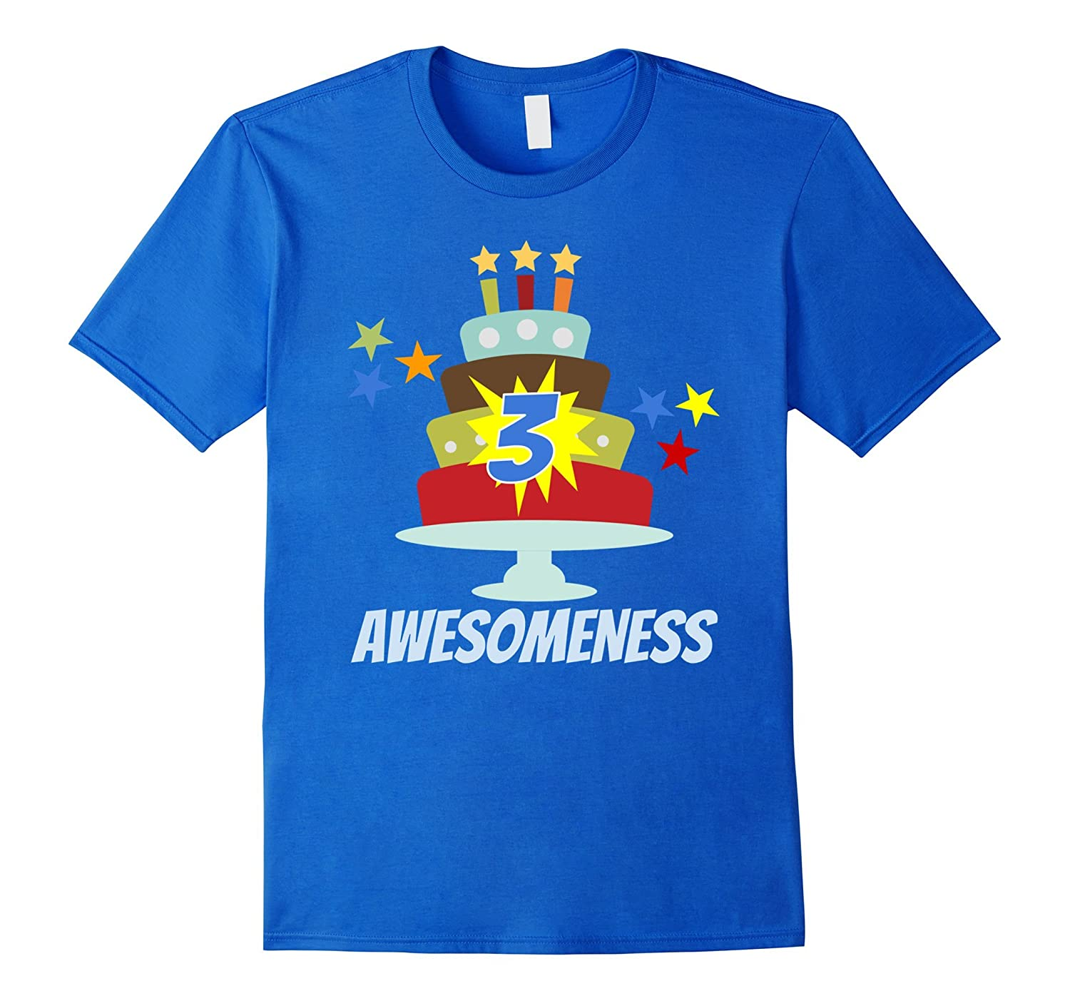 3 Year Old Awesomeness Birthday T Shirt For Boys Or Girls RT