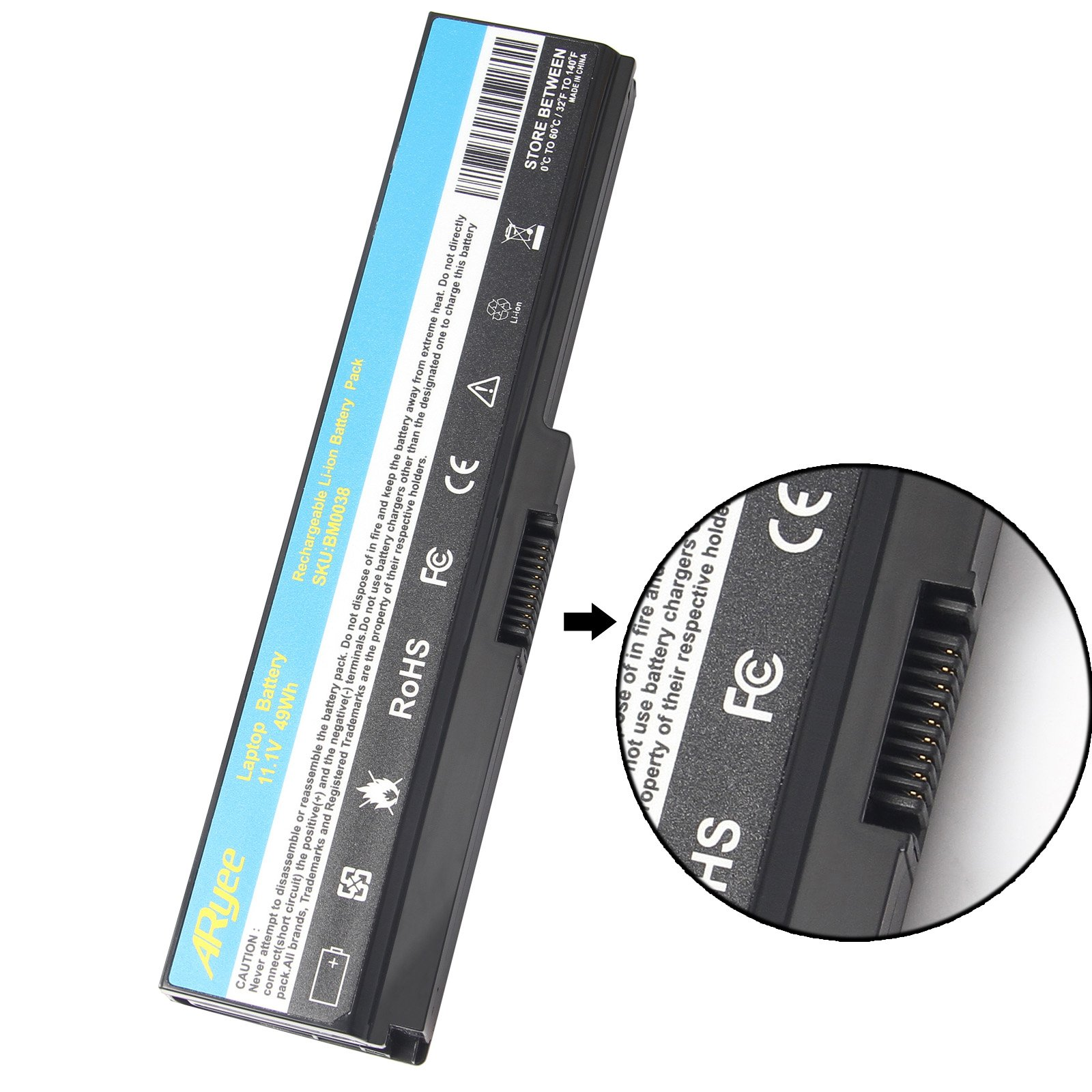 ARyee PA3819U-1BRS Battery for Toshiba Satellite PA3819U-1BRS PA3818U-1BRS PA3816U-1BRS PA3817U-1BRS L730 L735 L850 L750D L775 L775D Series by ARyee (Image #2)