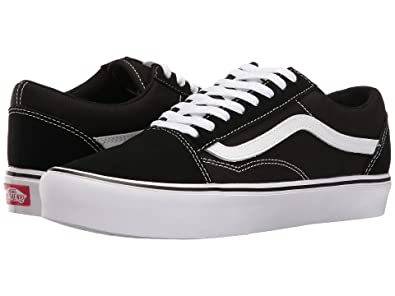 vans black white old skool lite trainers