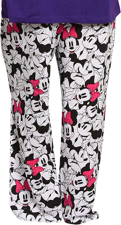 Disney Womens Plus Size Pajama Set Minnie Mouse T-Shirt /& Pants PJs Sleep Night